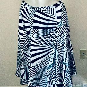 Nygard Fun Black/White Silk Gothic Circle Skirt 12